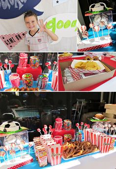 Ideas for a sports themed birthday party.