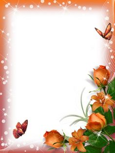 Resultado de imagem para Frames with butterflies and flowers Frame Border Design, Page Borders Design, Flower Backgrounds, Flower Wallpaper, Paper Background Design, Boarders And Frames, Printable Frames, Joy Art, Stationery Paper