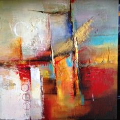Parallel by Farahnaz Samari, Canvas - Gallery wrap 1 - 1/2, Abstract, Mixed Media | Direct2Artist