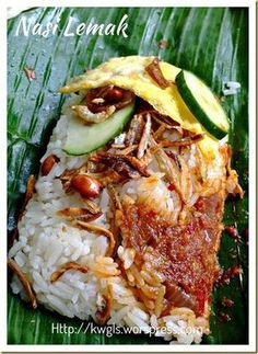 by Guaishushu: Nasi Lemak is most known for its Halal Recipes, Indian Food Recipes, Asian Recipes, Cooking Recipes, Healthy Recipes, Asian Desserts, Chinese Recipes, Rice Recipes, Malaysian Cuisine