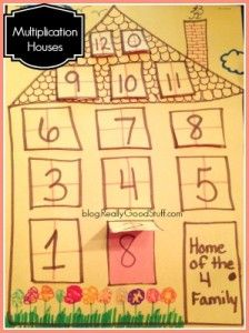 Classroom Crafts - Multiplication Houses
