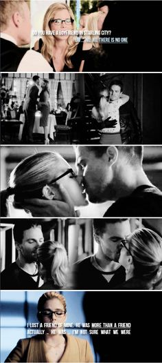 He was more than a friend actually .. he was … I'm not sure what we were but he's gone. #arrow