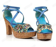 $26.00 free s/h - New Fashion Hot Sale Woman Ladies Strappy High Wedge Heel Flower Sandals Shoes | eBay#120904882784