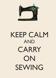 Keep Calm and Carry on Sewing A4 Digital Print by WilsonMakes, £10.00