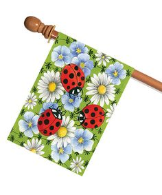 Look what I found on #zulily! Flowers & Ladybugs Outdoor Flag #zulilyfinds