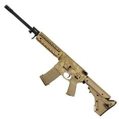 Black Rain Ordnance AR-15 Semi Auto Rifle .223 Rem/5.56 NATO 16 Barrel 30 Rounds Carbine Length Free Float Quad Rail UBR Stock FDE/Digital Tan BRO-PG2
