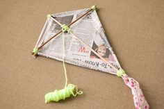 How to Make a Diamond Kite. Diamond kites are the most basic version of traditional kites, and they are easier to make than you might think. Once you gather your materials, you can make a version which uses a string-supported frame and a. Kites For Kids, Crafts For Kids, Kite Designs, Kite Making, Remembering Dad, Kid Spaces, Summer Fun, Things To Do, Personalized Items