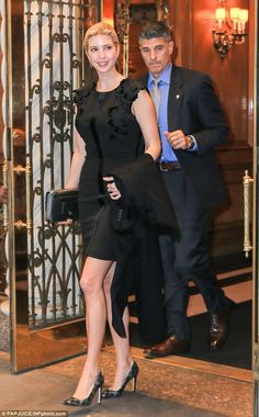 Ready for a night on the town! Ivanka was all dressed up as she left her Park Avenue apartment on Wednesday morning