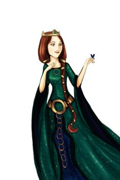 Queen Elinor by Arbetta on deviantart. One of my favorite characters . . .
