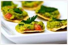 ready for game day? try these game day tostadas! recipe: http://camillestyles.com/2012/the-perfect-bite-guacamole-tostadas/