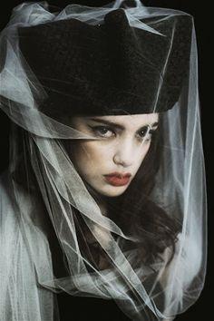 Dita by Serge Sarkisoff, via Behance La Danse Macabre, Art Commerce, Paolo Roversi, Ex Machina, Love Hat, Perfect World, Headgear, Headdress, Portrait Photography