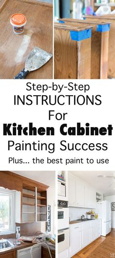 Ultimate DIY Kitchen Makeover Tutorial: How to Paint Cabinets to turn an Out-of-Date Kitchen into a fresh and beautiful space with Paint.