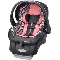Evenflo Embrace LX Infant Car Seat, Penelope Designed specifically for the tiniest of newborns fitting a child from 4 pounds. Up to 35 pounds. The Evenflo Siege Bebe, Baby Carrier Newborn, Baby Car Mirror, Baby Accessories, Travel Accessories, Trendy Baby, Baby Gear, Baby Items, Baby Car Seats