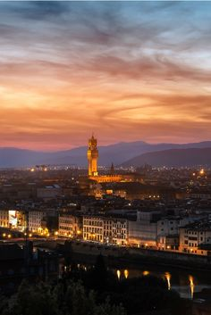 Morning in Florence Italy