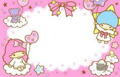 Little Twin Stars Note Sheet