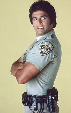 "Erik Estrada as 'Officer Francis (""Frank"") ""Ponch"" Poncherello' in CHiPs (1977-83, NBC)"