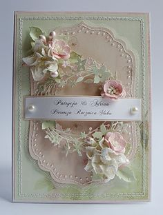 Dorota_mk...my two very favorite colors for cards and pages!!  Such an artist!!