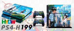 PS4 Playstation4 Game Console & 2 Controller   Decal Vinyl Sticker Cover Designer Skin Protection