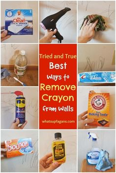 Remove your little Picasso's crayon markings from the wall with WD-40.   27 Household Cleaning Tricks Every Parent Should Know
