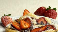 Erdbeer-Nutella-Blätterteigherzen