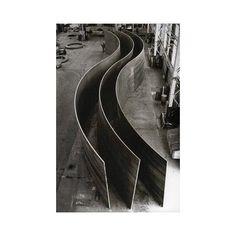 the infamous Richard Serra A progress shot via mgreco27- photography, shape