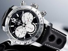 Chopard Watches: Chopard Mille Miglia Jacky Ickx Limited Edition black and white steel