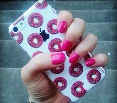Pink donut iPhone case