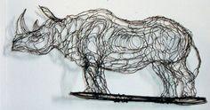 "Elizabeth Berrien, aka ""Wire Lady"", wire sculptures"