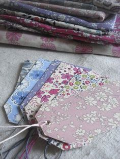 FABRIC COVERED TAGS