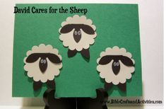 David the Shepherd Craft for Toddlers - could use with Jesus the Good Shepherd - could use white cupcake cups?