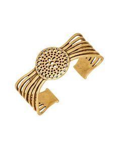 Lucky Brand Openwork Cuff Bracelet Women's Gold
