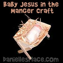 Baby Jesus in a Manger Bible Craft - Printable Craft Patterns Christmas Crafts For Toddlers, Bible Crafts For Kids, Childrens Christmas, Christmas Ornament Crafts, Preschool Christmas, Toddler Christmas, Toddler Crafts, Christmas Activities, Classroom Crafts