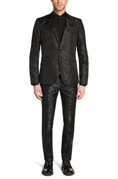 Patterned slim-fit suit in silk: 'Arti1/Heibo3'