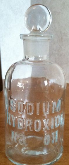 Vintage Apothecary Chemistry Bottle by TheMolecularBarn on Etsy
