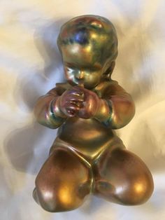 Zsolnay  PECS SINKO ANDREAS 1920 VERY VERY RARE MULTICOLOR EOSIN Buddha, Statue, Ebay, Art, Kunst, Sculpture, Art Education, Artworks