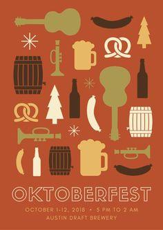 Minimalist Oktoberfest Icons Poster