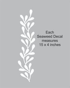 Seaweed Wall Decals set of 3 new design by FairyDustDecals