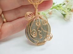 Whimsical Wire Wrapped Pendant