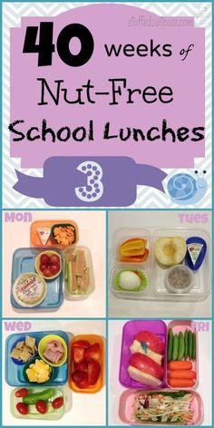 Week 3 of 40 Weeks of Nut Free Kids School Lunches StuffedSuitcase.com lunch ideas no peanut or treenut