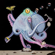 Beinart Gallery — Antipodes 2020 opens tonight, 6pm - 9pm. Here's... Octopus Squid, Australian Artists, Wood Paneling, The Collector, New Art, Original Art, Creatures, Gallery, Artwork