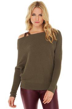 Let It Be Sweater in Olive #shopakira #beseenin2015