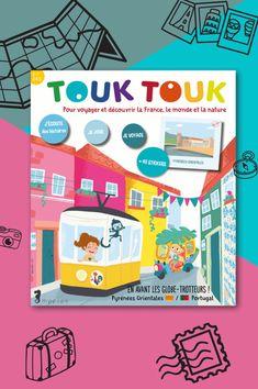 Pour voyager en France et dans le Monde ! Vous voyagerez avec Tim, Gaïa et Touk les héros de Touk Touk Magazine. Des petits héros éco-citoyens du monde ! #touktouk #touktoukmagazine #magazinejeunesse #portugalenfant #voyageenfant