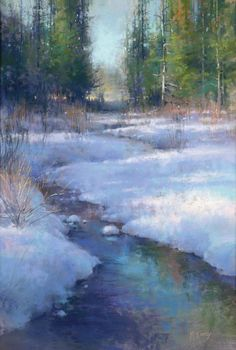 Pastel Society of America Hall of Fame Pastelist Richard McKinley will focus on underpainting techniques for landscape painting. Pastel Landscape, Winter Landscape, Landscape Art, Landscape Paintings, Winter Painting, Winter Art, Snow Scenes, Winter Scenes, Imagen Natural