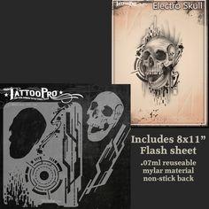 Tattoo Pro Stencil - Electro Skull