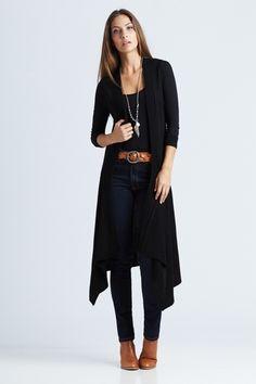 Black on Black Outfit includes bird keepers, Bonds, and Adorne Birdsnest Online Fashion