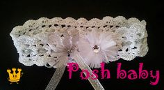 Crocheted cotton headband