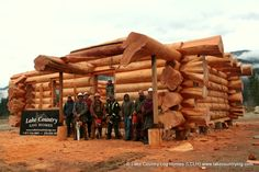 Handcrafted Western Red Cedar Log Home with Flared Butt Character Staggered Ends