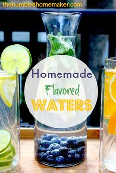 Homemade Flavored Waters {GIVEAWAY!} - The Humbled Homemaker