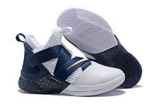 0d2d1c5ccfd Nike LeBron Soldier 12 White Midnight Navy-Mineral Yellow For Sale