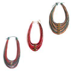 Colares em fio encerado com detalhes em metal. Promoção de Dia das Mães no site Fita de Moça! #colar #moda #modafeminina #diadasmaes #promocao